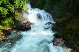 Beim Canyoning Einsteigerkurs stürzen Sie sich in tosende Fluten.