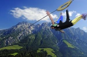 Mit dem Flying Fox einen sicheren Flug eleben.