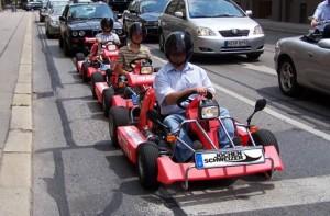 Kartfahren auf der Strasse